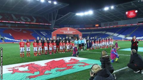 Wales line up against Kazakhstan in November 2017