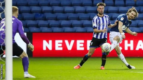 Sam Gallagher rounds off the scoring for Blackburn at Sheffield Wednesday