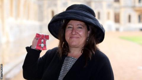 Sally Munday receives an MBE