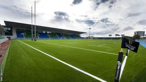 The new pitch at Scotstoun