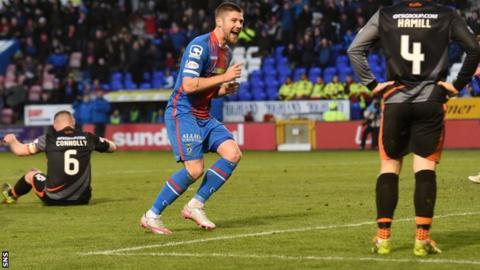 Iain Vigurs celebrates his second goal