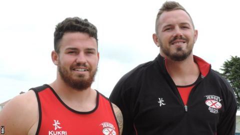 Ellis Abrahams (left) and Tom Quarrie