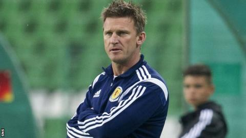 Scotland Women Under-19s coach Gareth Evans