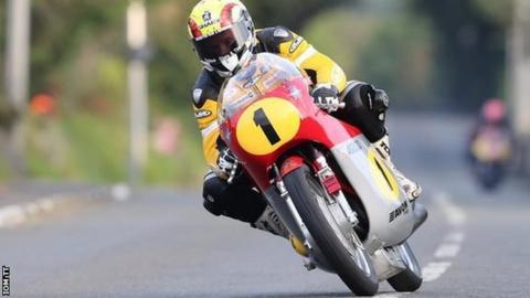 Ian Lougher competing in the Classic TT