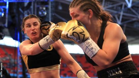 Concussion in sport: Are safety and equality compatible in women's boxing? - BBC Sport