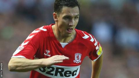 Stewart Downing in action for Middlesbrough