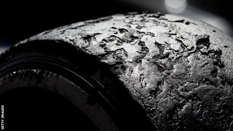 Pirelli tyre after the British Grand Prix - 2013