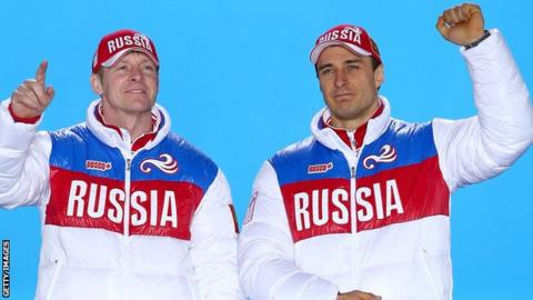 Alexey Voevoda (right) and Alexander Zubkov have both now been banned by the IOC