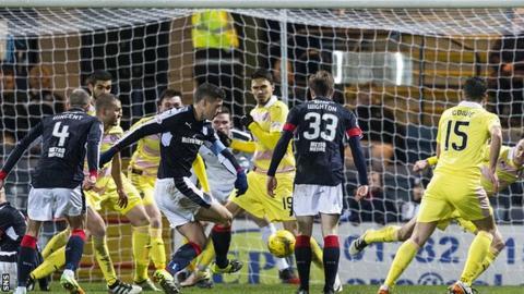 Darren O'Dea scores Dundee's first goal