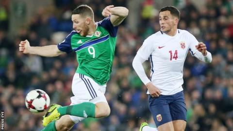 Conor Washington scored his third international goal against the Norwegians