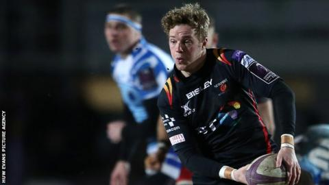 Angus O'Brien started at fly-half for Dragons in Moscow