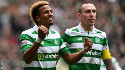Scott Sinclair scored twice for Celtic