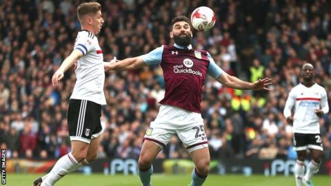 Mile Jedinak in action for Aston Villa against Fulham