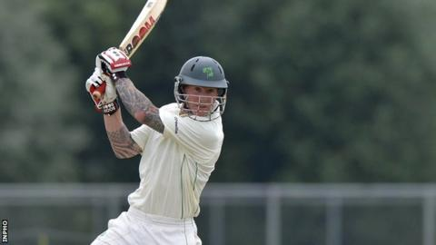 Ireland's John Mooney hit 110 not out for Leinster Lightning in the defeat by North West Warriors