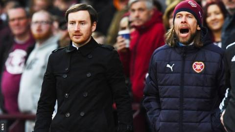 Hearts head coach Ian Cathro