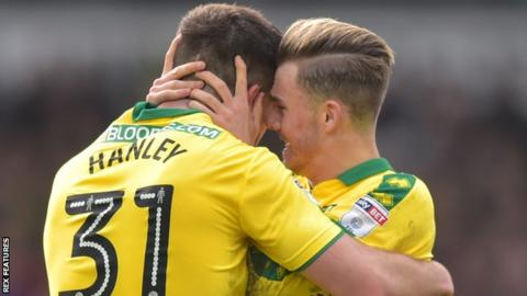 James Maddison (right) and Grant Hanley