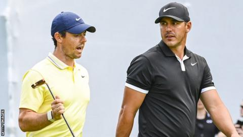 Rory McIlroy (left) and Brooks Koepka (right)