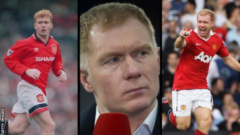 Paul Scholes through the years