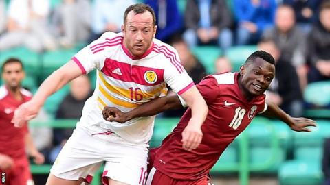 Charlie Adam in action for Scotland against Qatar