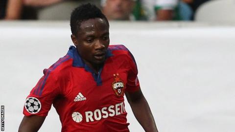 Nigeria striker Ahmed Musa