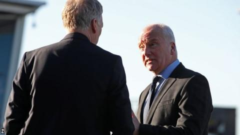 Former West Ham recruitment chief Tony Henry (right) and manager David Moyes