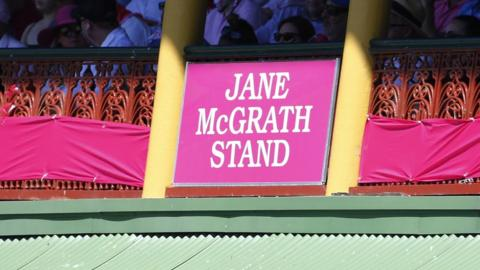 The SCG's Ladies Pavillion carried the name of Jane McGrath on Saturday