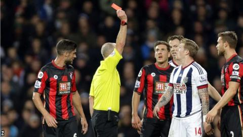 James McClean is shown red