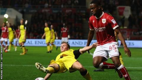 Jonathan Leko was on the losing side just once in 11 appearances out on loan with Bristol City in the 2017-18 season