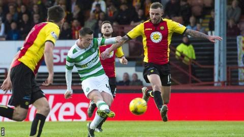 Callum McGregor scores against Partick Thistle
