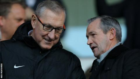 Terry Butcher (left) at an Ipswich game with George Burley