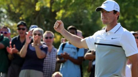 Rory McIlroy missed the Open Championship at St Andrews in July with an ankle injury which ruled him out for five weeks but took three European Tour victories in 2015 to win the Race to Dubai title and be named European Tour Golfer of the Year