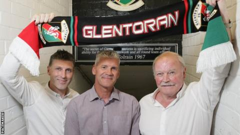 Paul Leeman, Gary Smyth and Ronnie McFall hope to return Glentoran to the top of Irish League football