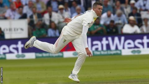 Australia pace bowler Peter Siddle bowls a delivery during the 2019 Ashes