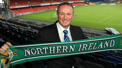 Michael O'Neill was appointed Northern Ireland manager in December 2011