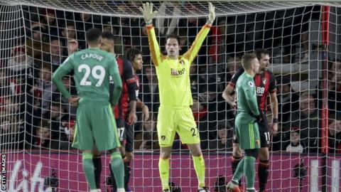 Bournemouth goalkeeper Asmir Begovic