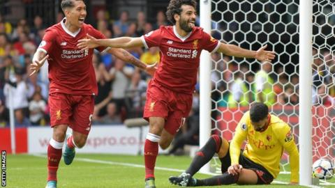 Mohamed Salah's four-goal haul in Liverpool's rout of Watford