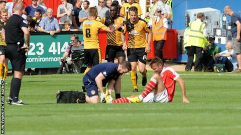 Newport County suffered several injuries in their defeat at Cambridge United