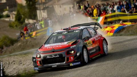 Kris Meeke in action in Spain on Saturday