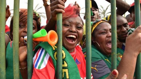 Cameroon football fans