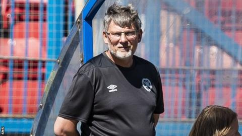 Hearts manager Craig Levein watches his team in action during a pre-season friendly