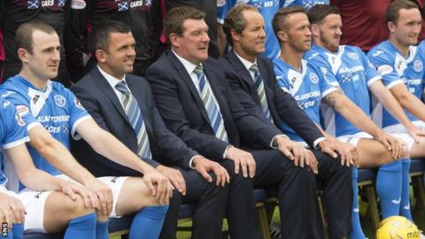 St Johnstone players and management