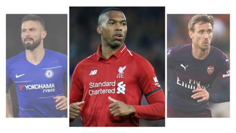 Giroud, Sturridge and Monreal