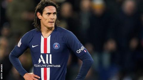 PSG striker Edinson Cavani