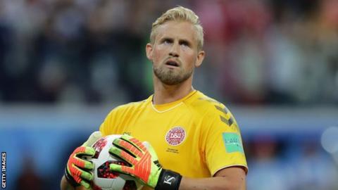 Leicester City and Denmark goalkeeper Kasper Schmeichel