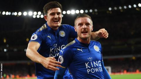 Maguire tips Leicester teammate Vardy to shine in Kane's absence