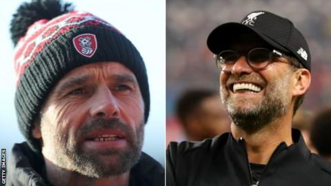 Paul Warne and Jurgen Klopp