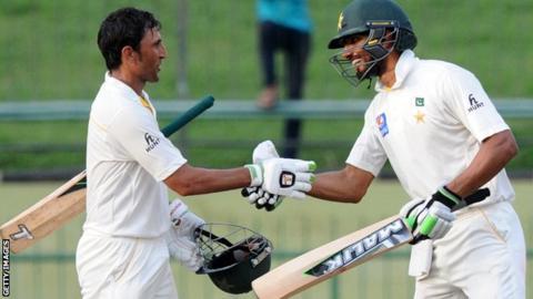 Younis Khan (left) and Shan Masood
