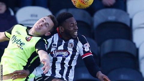 As well as Grimsby, Jamille Matt's clubs include Blackpool, Plymouth, Stevenage, Fleetwood and Kidderminster