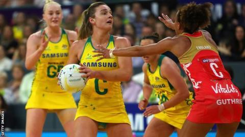 England and Australia netball