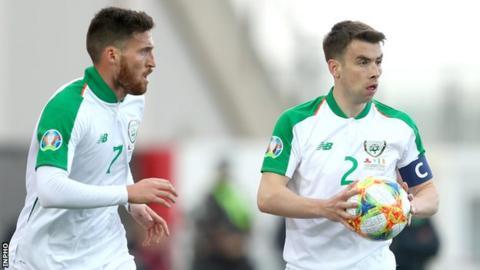 Matt Doherty and Seamus Coleman